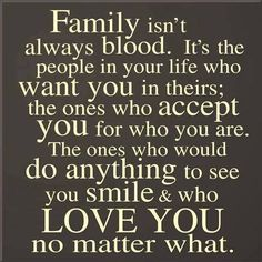 Family isn't always blood. A true friend sticks closer than a brother or sister. Love the people that God has placed in your life and be thankful knowing that you are truly blessed! ❤️