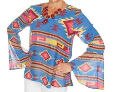 Tribal print top!  Check out mjadedboutique.com
