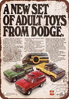 1978 Advertisement Dodge Trucks Adult Toys Van Pick up Pickup Sport SUV Utility Vehicles Play Wall Art Decor Old Dodge Trucks, Dodge Pickup, Ram Trucks, Toy Pickup Trucks, Dodge Cummins, Station Wagon, Dodge Ramcharger, Sport Suv, Dodge Power Wagon