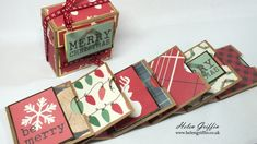 Christmas Mini Album with Cascading Pocket Pages –