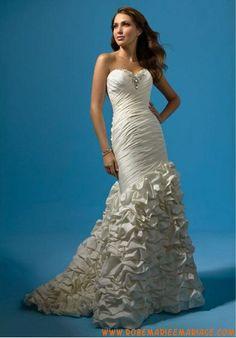 Robe de mariée sirène asymétrique drapés