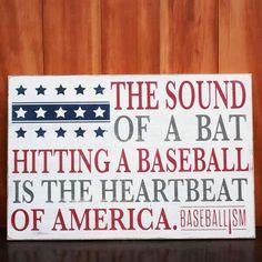 The sound of a bat hitting a baseball is the heartbeat to my life #baseballisfun