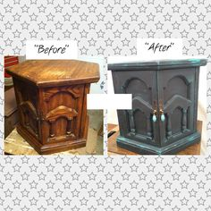 ASCP Annie Sloan chalk paint - Graphite & Florence - furniture - nightstand - end table - accent furniture - Check me out on Facebook: www.facebook.com/desiludesignsfanpage