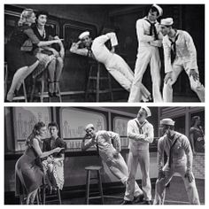 Fancy Free in 1944 (featuring Jerome Robbins) and 2014 (with Tiler Peck, Gina Pazcoguin, Robbie Fairchild, Tyler Angle, Daniel Ulbricht and Tess Reichlen)