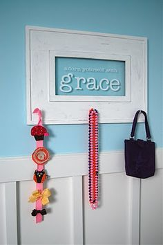 I really love this. Could use cricut and vinyl. Idea for next to the front door.