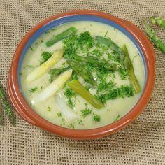 Velouté d'asperges vertes et pommes de terre