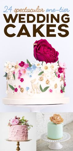 24 Spectacular One-Tier Wedding Cakes