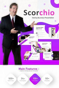 DESCRIPTION:Scorchio Startup Business Powerpoint Template i a creative template for start up business purpose. Powerpoint Icon, Business Powerpoint Templates, Start Up Business, Business Planning, Business Presentation, Event Calendar, Worlds Of Fun, Website Template, Infographic