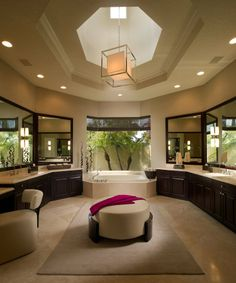 step into my.....HUGE bathroom!   who cares what you look like in the morning This room is awesome!