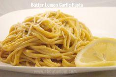 Simplify Your Kitchen and Butter Lemon Garlic Pasta Recipe {veggie pasta}