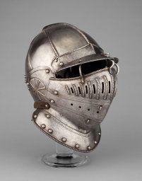 English, Greenwich, Burgonet with Falling Buffe possibly from an Armor of William Herbert, 1st Earl of Pembroke