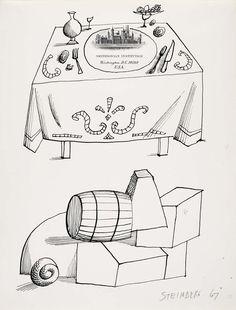 Steinberg, 1967, Smithsonian drawings