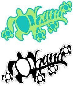 Inspiration Ohana tattoo from island paperie ....Ohana Honu Laser Cut