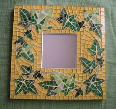 """Items similar to Mosaic mirror """"Ivy"""" on Etsy Mosaic Tile Art, Stone Mosaic Tile, Mirror Mosaic, Mosaic Glass, Stained Glass, Mosaic Windows, Mosaic Madness, Beautiful Mirrors, Mosaic Projects"""