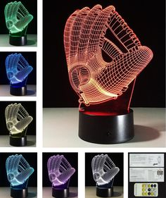 Oberora 3D Acrylic Visual Touch Table Lamp 7 Colors Changing Creative Home Decor USB LED Desk Night Light,Gift For Child Seven Color b ** Visit the image link more details. (This is an affiliate link) #NurseryNightLights
