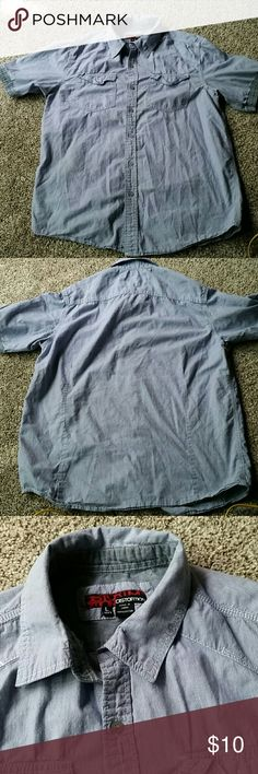 Distortion mens button up lrg Nice shirt but needs ironing after washing.  Bin 12 Shirts Casual Button Down Shirts