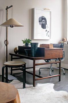 desk - lamp - seating