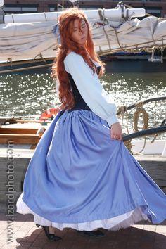 Ariel Day Dress Revamp Side Profile by AllenGale.deviantart.com on @DeviantArt