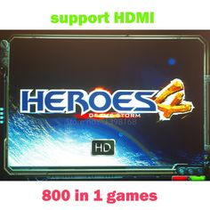 39.56$  Watch now - 800 in 1 games Heroes of the stom 4 HD Jamma Multigame PCB board VGA / CGA output for CRT / LCD Arcade Game Cabin   #SHOPPING