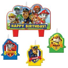 Paw Patrol Candle Set - Paw Patrol Party Supplies & Decorations