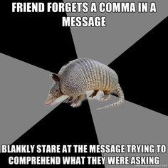 """INFJ problems with the English Major Armadillo: """"Write eloquently."""" Especially when I'm nervous & English is not my mother tongue. Infj Problems, Writing Problems, Nerd Problems, What Do You Mean, Thats The Way, Intp, Story Of My Life, So Little Time, The Book"""