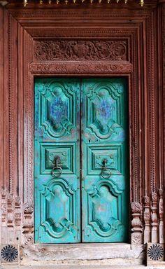 Samadhi Centre doors ~ Kandy, Sri Lanka