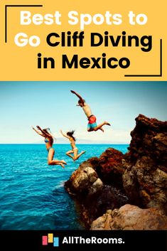 Best Spots to Go Cliff Diving in Mexico - AllTheRooms - The Vacation Rental Experts Top Travel Destinations, Best Places To Travel, Travel Tips, Adventure Tours, Adventure Travel, Cliff Diving, Scuba Diving, Austria Travel, Island Tour
