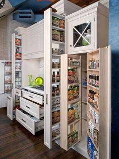 56 Ideias de armazenamento de cozinha úteis | DigsDigs