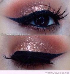 Glittery Eye Makeup                                                                                                                                                                                 More
