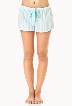 Comfy Striped Sleep Shorts | FOREVER21 - 2031558066