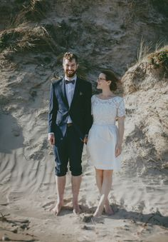 LIZ + JIM // #realwedding #intimate #beach #VIC #ceremony #family #small #dress #handmade #inspiration #wedding