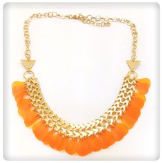 Ornge drops necklace
