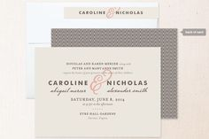 Classical, Formal, Simple Wedding Invitations | Minted