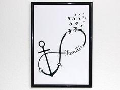 Originaldruck - Kunstdruck Anker Familie Unendlichkeit Liebe - ein Designerstück von Ediths-Art bei DaWanda