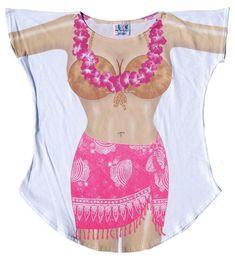 abfd068a82083 La Imprints Sexy Bikini Swimwear Cover Up Hot Pink Sarong T-Shirt Tee  Pajamas Beach
