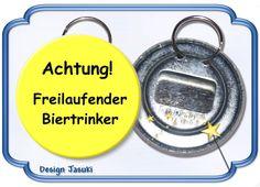 Flaschenöffner  mit Schlüsselring, Bier von Jasuki auf DaWanda.com