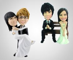 Don't think I would do this, but it is pretty awesome. Your Face Wedding Cake Topper