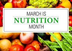 March is nutrition month to focus on healthy food choices and getting active. A healthy diet and active lifestyle is your best weapon to combat diseases such as heart disease, diabetes and your risk of a stroke.  Use this month to boost a healthy lifestyle for months to come. Here are a few tips to help get you started:  1. Start a food journal. Track meals and workouts  2. Try meatless Monday to get in more vegetable and whole grains.  3. Workout outside when the weather permits. You'll not…