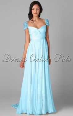 blue Noble A-line Square Floor-length Dress