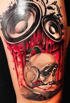 Tattoo Artist - John Maxx | www.worldtattoogallery.com/skull-tattoo
