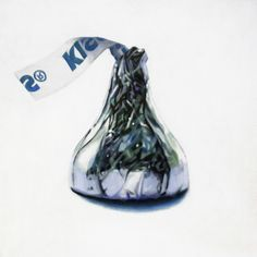 Kiss 2, Acrylic on canvas, 12 x 12 inches, 30 x 30 cm