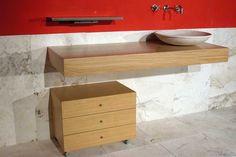 Mobile bagno il legno e pietra - modello Mercatale    http://www.pietredirapolano.com/composizioni-legno-e-pietra/