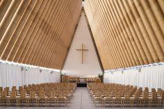 Cardboard Cathedral / Shigeru Ban #paper #architecture #naturallight