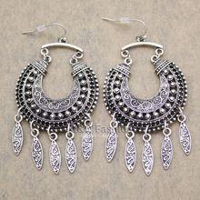Boho Necklace, Boho Earrings, Crochet Earrings, Drop Earrings, Bali, Boho Bags, Vintage Silver, Gypsy, Dangles
