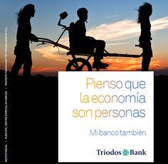 Pienso que la economía son personas - Mi banco también. Servicios para particulares de Triodos Bank: http://www.triodos.es/es/particulares/