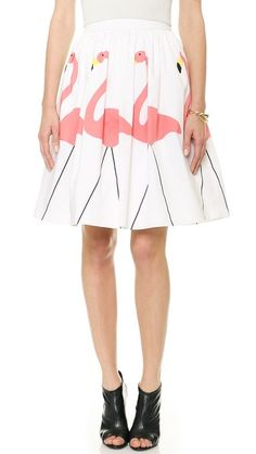 This skirt is for the birds!! Alice + Olivia Hale Flamingo Puff Skirt | Chasing Life