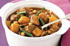 Easy Lamb Tagine - Sweet juicy Apricots and tender Butternut squash are a winner with kids and make for a delicious Middle Eastern family meal for toddlers through to teens and beyond.  Prep: 10 mins Cook: 2 hrs, 10 mins