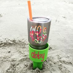Lilly Pulitzer Inspired Yeti Decal//Yeti by ThePinkPeachShop