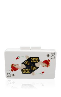 Monogram Customizable Double Sided Queen of Spades and Ace Of Spades In Black Clutch by Urania Gazelli for Preorder on Moda Operandi