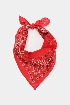 Cotton bandana with classic paisley print. Red Bandana, Bandana Headbands, Hog Games, Do Rag, Cotton Bandanas, Casual Cosplay, Love Signs, Hacks Diy, Paisley Print